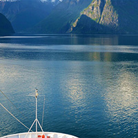 Sailing through the Norwegian Fjords