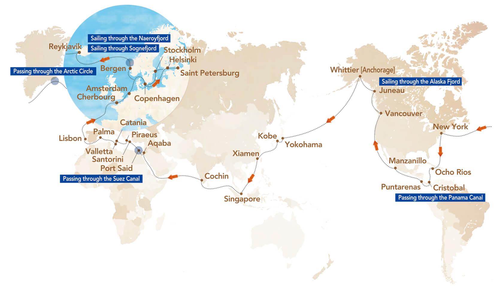 크루즈 MAP